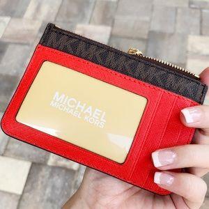 Michael Kors coin wallet card holder brown